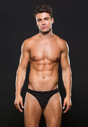 Microfiber Thong S/m Stripe Black