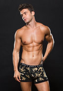 Logo Elastic Boxer Brief L/xl Green Camo