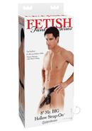 Fetish Fantasy Mr Big Hollow Strap On Sleeve 8 Inch Black