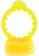 Neon Vibrating Cockring Waterproof Yellow