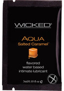 Wicked Aqua Flavored Water Based Foil Packs Salted Caramel...