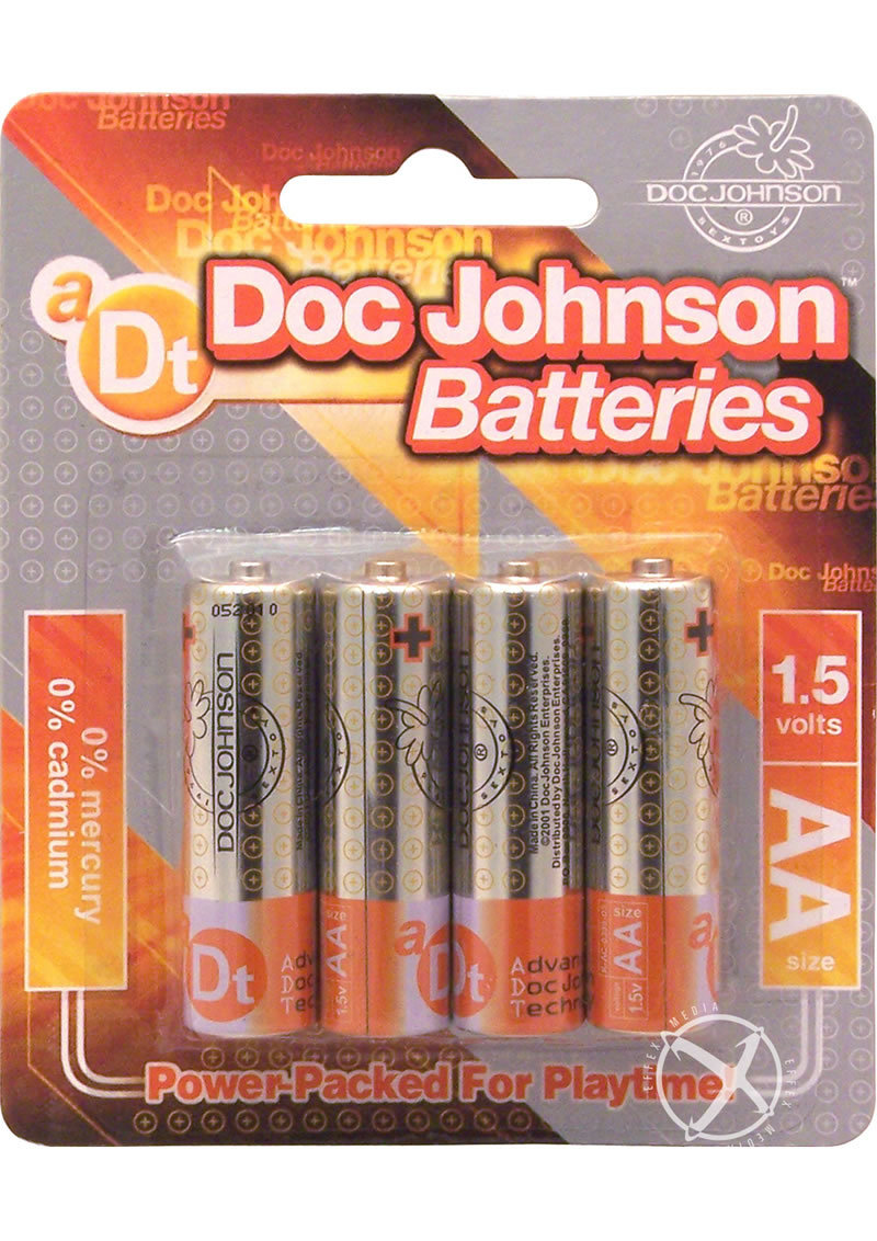 Doc Johnson Batteries Aa 4 Pack