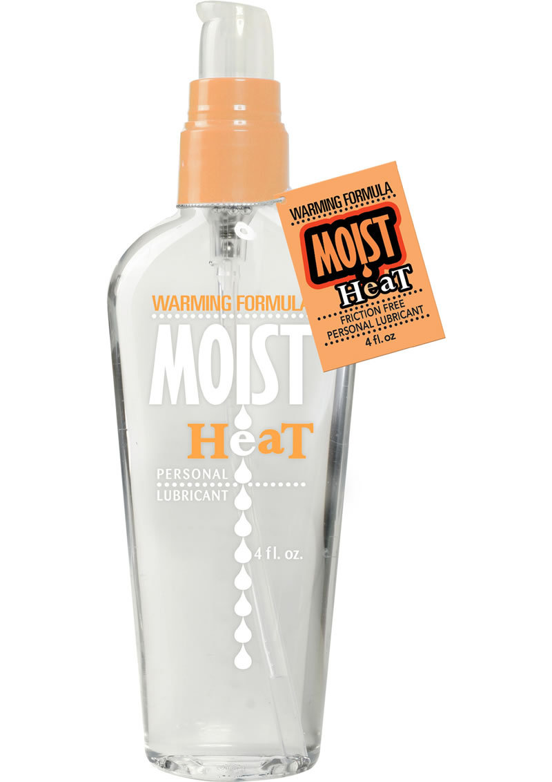 Moist Heat Warming Water Based Lubricant 4 Ounce Pump