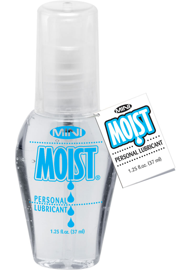 Mini Moist Water Based Personal Lubricant 1.25 Ounce