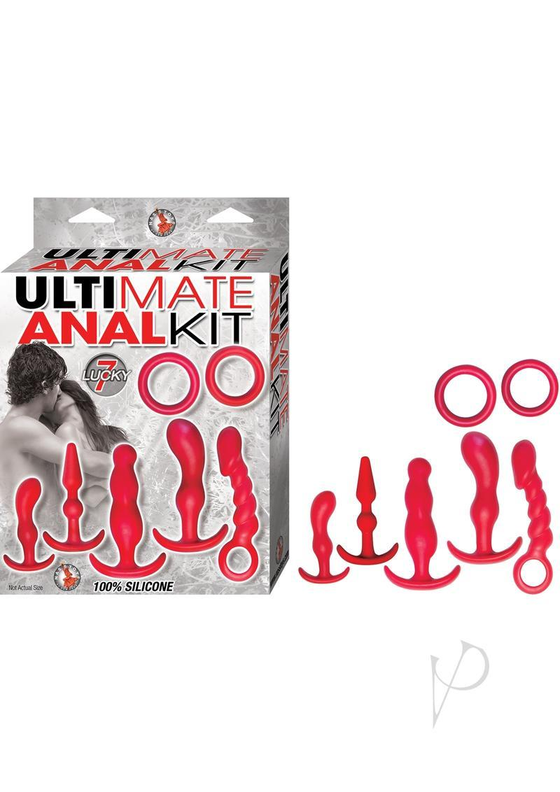 Ultimate Anal Kit Silicone Waterproof Red 7 Piece Kit