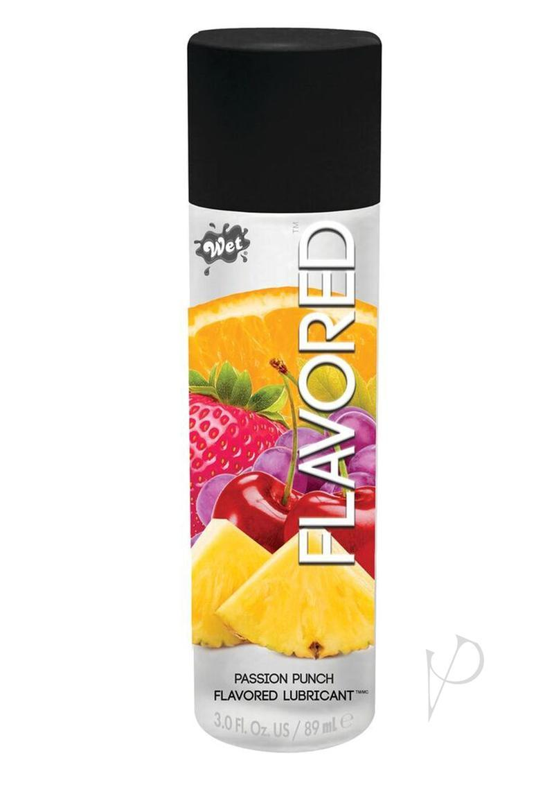 Wet Flavored Water Based Gel Lubricant Passion Fruit Punch 3.5 Ounce