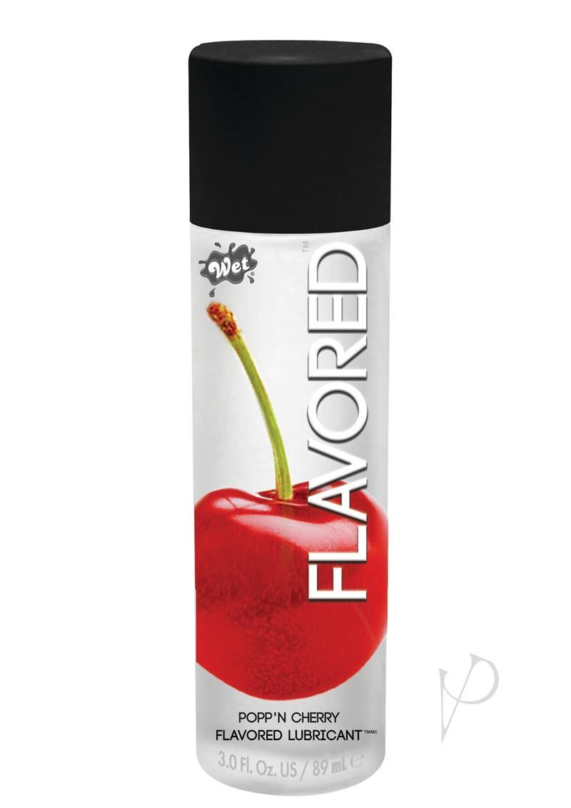 Wet Flavored Water Based Gel Lubricant Sweet Cherry 3.5 Ounce